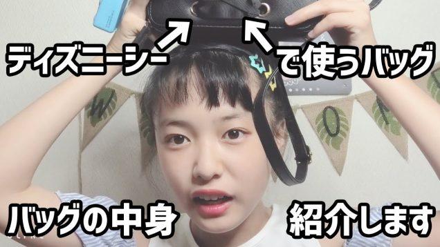 【ディズニーシー準備】バッグの中身紹介!