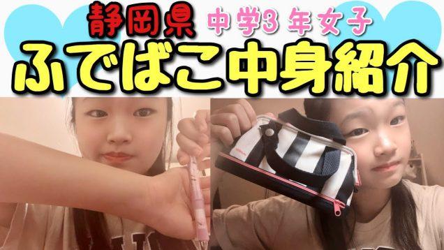 静岡県中学3年生 学校の筆箱 中身紹介