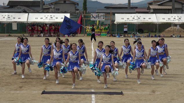 日田高校 響櫳祭 青チア20190912