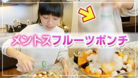 【簡単デザート】噴き出すメントスサイダーフルーツポンチ作ってみた結果…