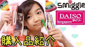 【購入品紹介】シンガポールのスミグルとダイソーの文房具購入品紹介!★Smiggle & Daiso Stationery