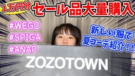 【ZOZOTOWN】1万円分セール品大量購入!夏コーデ紹介も!