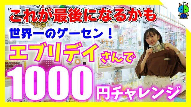 【クレーンゲーム 】世界一のゲーセンエブリデイさんでの最後の1000円チャレンジ!!【ももかチャンネル】