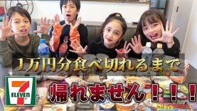 【大食い】セブンイレブン1万円分食べきれるまで帰れません!!