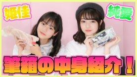 【大公開】現役女子中学生の筆箱の中身紹介します!【ひめか&ありあ】