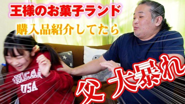父 大暴れ!!王様のお菓子ランド 購入品紹介してたら娘にディスられて大暴走!!