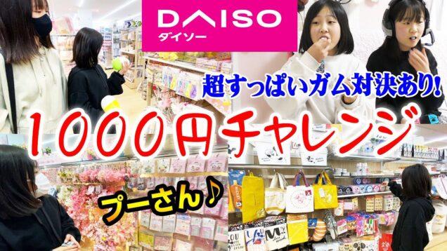 【ダイソー】何買った??妹りみがDAISOで1000円チャレンジ!大好きなプーさんグッズ多め♪最後は超すっぱいガム対決も!!!【しほりみチャンネル】
