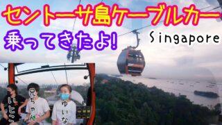 シンガポール  セントーサ島の【ケーブルカー(ゴンドラ)】に乗ってきたよー!