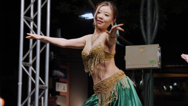 [Belly dance] 妖艶!ベリーダンス 麻布十番納涼まつり2019 ① [4k60p]
