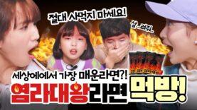 비타민과 염라대왕라면 먹방을 해보았습니다. (feat. 세상에서 가장 매운 라면) 눈물 콧물 땀 쏙 뺀 리뷰 Spicy Challenge Mukbang 클레버TV