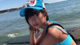 小学生モデル 小杉ゆんjs4 湘南の海で水着ファッション撮影ーーーー