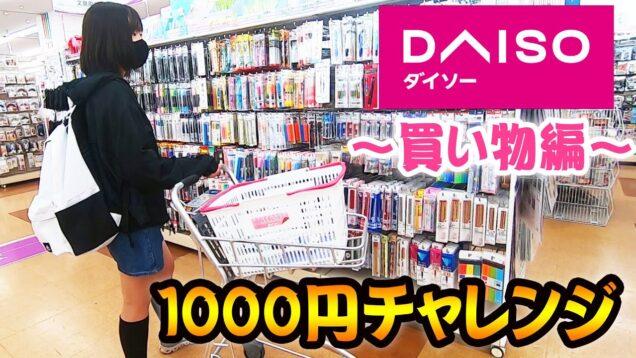 【100均】何を買う??ダイソーで1000円チャレンジ(買い物編) 文房具多め!【しほりみチャンネル】