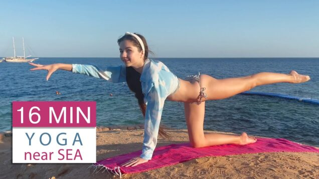 16 MIN YOGA by the Sea / Workout on Vacation #9 / Danatar GYM