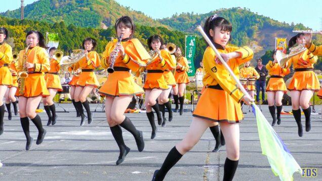 京都橘高校 吹奏楽部 大江山酒呑童子祭り マーチングドリル (前半) Kyoto Tachibana SHS Band [4K]