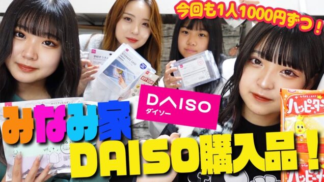 【ダイソー】DAISOひとり1000円分紹介します!【みなみ家】