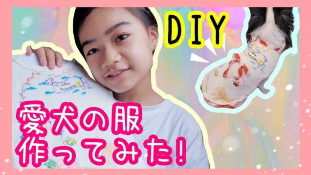 【犬服 DIY】小さくなった服にファブリックマーカーで絵を描いて愛犬の服を作ってみた!