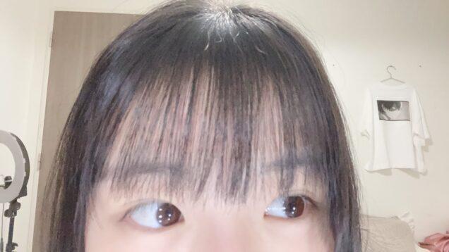 【前髪カット】プチハプニングが起きました・・・