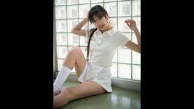【 現役中学生のテニスウェア&セーラー服 】姫華JC2 中学校で撮影しました==\(^^)/