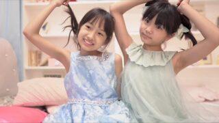 結莉愛JS5(  Yuria  10 years old )・りのりの JS5 (  Rinorino  10 years old  ) 仲良く二人でスタジオ撮影== \(^ω^)/