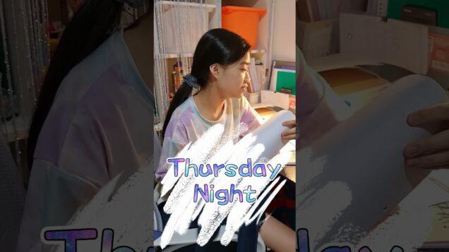 【木曜日の夜寝る前】 Thursday Night  #Shorts