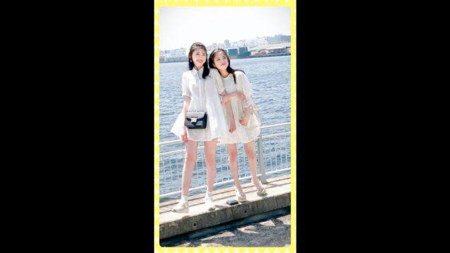 【撮影の裏側】仲良しモデルでおそろ風コーデ着てみた!|Japanese Kawaii Girl | #shorts