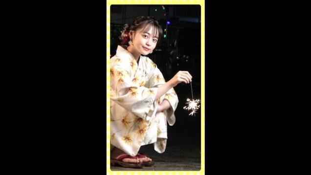 【浴衣で花火】夏の夜はやっぱり花火でしょ!🎇|Japanese Kawaii Girl | #shorts