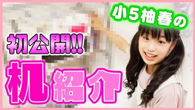 【机紹介】小学5年生柚春の机の上をお見せしちゃいます!【デスクツアー】