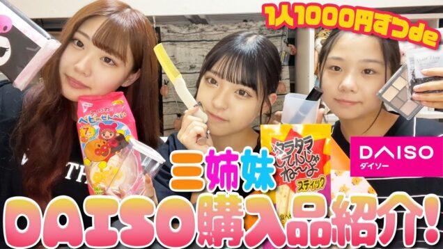 【ダイソー】三姉妹でDAISO1000円分購入品紹介!
