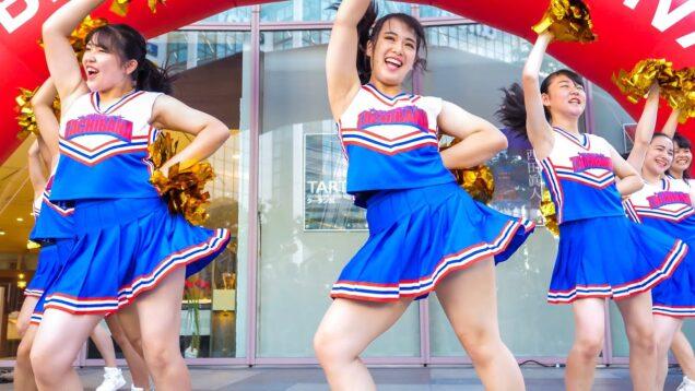 青のJKチアダンス Japanese Girls Cheerleader [4K]