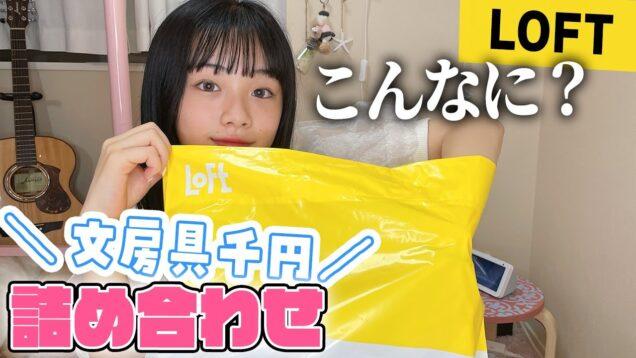 【LOFT】最強ペンケースも!文房具が大量に入って1000円!福袋(詰め合わせ袋)開封!