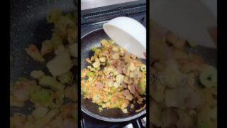 キムチ炒飯作ってみた🥺✌️飯テロすぎる?